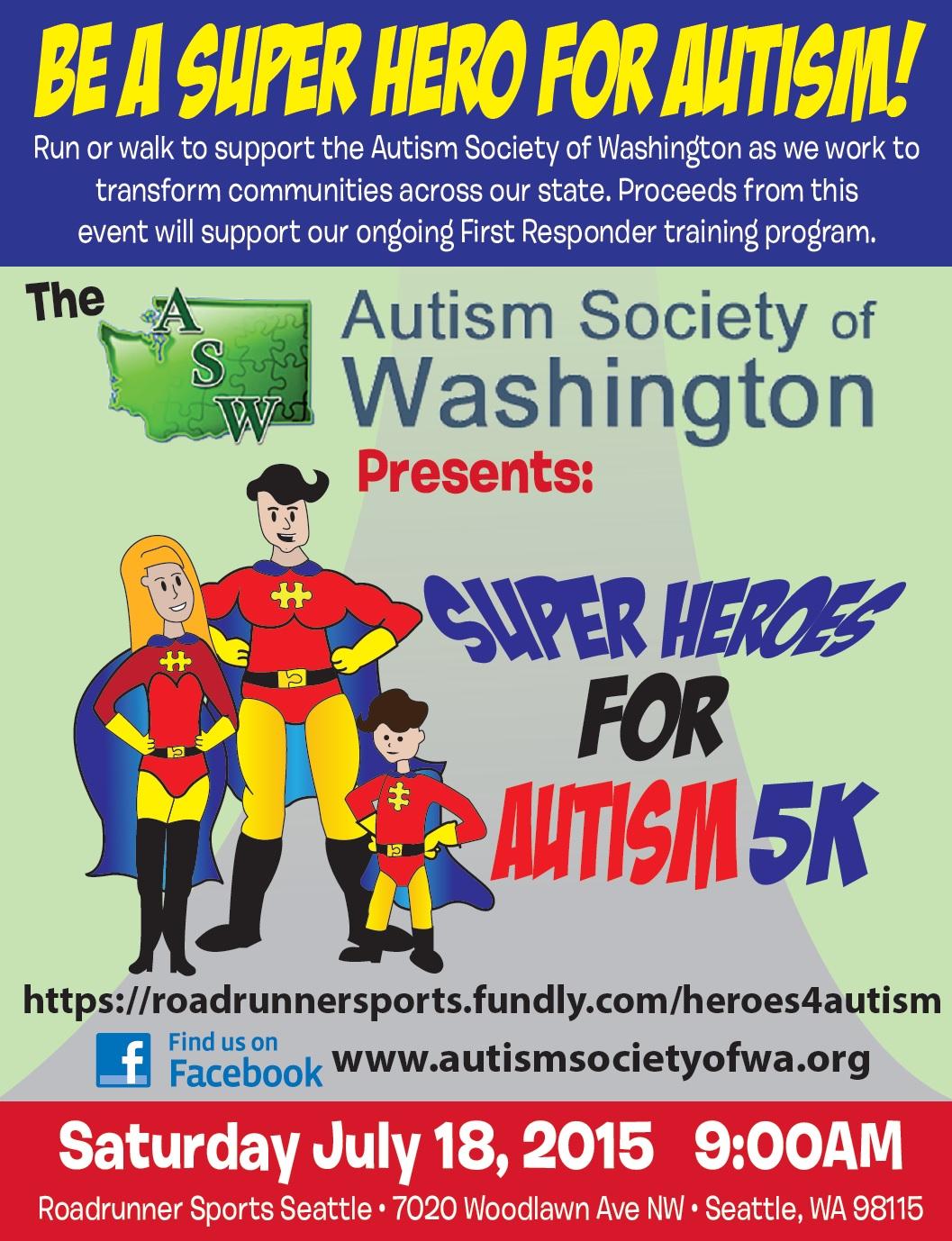 Company Peddling Unproven Autism >> Autism Society Of Washington Super Heroes For Autism 5k